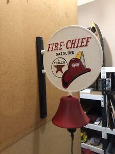 Cast Iron Texaco Fire Chief  Door Bell