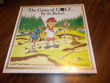 1989 The Game of Golf by the rules Board Game Golf Trivia Game