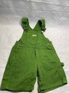 Guess Baby Toddler Denim Bib Jean Green Overalls Vintage Boy Girl Size 24 mo