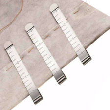 5pcs DIY Hand Sewing Hemming Clips Measure Marking Ruler Guide Stainless Steel #