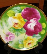 Limoges Coronet 8 1/2 Inch Decorator Plate Vibrant Roses