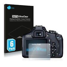 6x Displayschutzfolie für Canon EOS 2000D Klar Schutzfolie Displayfolie