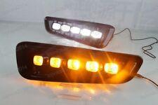 White Daytime Running Light LED Yellow Turn Signal For Ford Raptor F150 2016-18