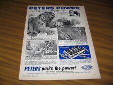 1960 Print Ad Peters Power Cartridges Stop Man Eating Tigers Bridgeport,CT