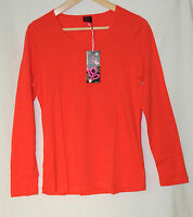 LADIES TG CLOTHING LONG SLEEVE RED WOMENS TOP SIZE 16 CASUAL
