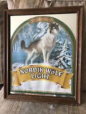 Nordik Wolf Light Beer Mirror Sign 1984 Man Cave Bar Sign Atnique Beer Mirror