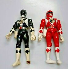 1994 Bandai Mighty Morphin Power Rangers Red & Black 8in With Kicking Motion