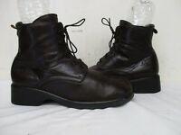 HAVANA JOE Brown Leather Lace Up Ankle Boots Mens Size 41 EUR Made in Spain