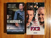 (Lot2) US Marshals 1998 FX2 1991 VHS RARE ORIGINAL HTF OOP Action Thriller