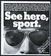 1968 Ray-Ban sunglasses photo vintage print ad