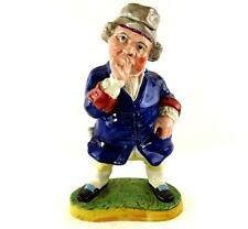 "Antiguo Staffordshire caja de rapé en forma de rapé Taker Figura 33cm de 13 """