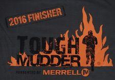 Men's Merrell Tough Mudder 2016 Finisher Gray Polyester Xl Ss Shirt
