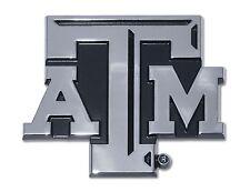 """Texas A&M Aggies Chrome Metal Auto Emblem (""""ATM"""") NCAA Licensed"""