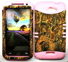 KoolKase Hybrid Silicone Cover Case for HTC One X S720e - Camo Mossy 03