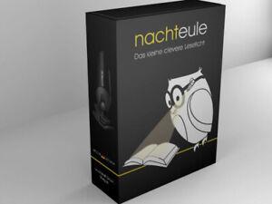 NACHTEULE Leselicht LED Nachtlicht Buchlicht für Brille Lesebrille mit Akku USB