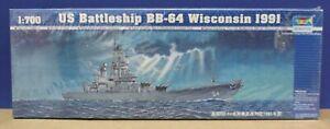 Trumpeter 05706 WW2 US Battleship BB-64 Wisconsin 1991 1:700 Kit New Sealed