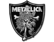OFFICIAL LICENSED - METALLICA - RAIDERS SKULL SEW ON / IRON ON PATCH METAL NEW