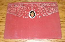1929 1930 Packard Stardard Eight 7-26 7-33 Sales Portfolio Brochure w 10 Plates