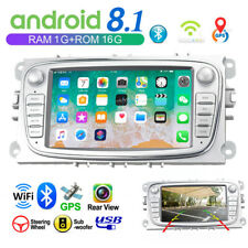 "7"" 2Din ANDROID 8.1 Autoradio GPS WIFI For Ford Focus Kuga C/S-Max Galaxy Mondeo"