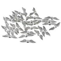 L/P 300 Antiksilber Perlen Beads Flügel Engelsflügel zum Basteln 23x5mm