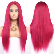 """Burgundy Red 4x13 Lace Front Human Hair Wig 20"""" StraightBrazilian Human hair Wig"""