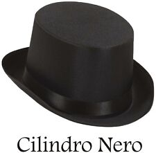 CAPPELLO CILINDRO NERO CLASSICO TUBA FESTA ANIMAZIONE CARNEVALE HALLOWEEN