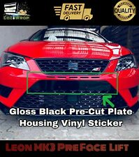 Eaziwrap Seat Leon MK3 Cupra FR Pre Facelift Plate Housing Vinyl Sticker BLACK