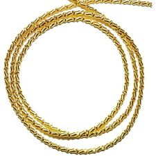 "WC324f French Wire Gold-Finish Zig-Zag 1mm Bullion Jewelry Component 13""/pkg"