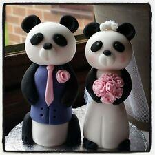 Panda novia y el novio Cake Toppers