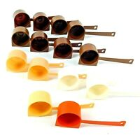Vintage Tupperware Coffee Scoops Lot of 14 Assorted Colors