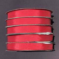 "100 YDS RED TAFFETA RIBBON 7/8"" 100% RAYON, by Schiff NEW! Crafts, Christmas USA"