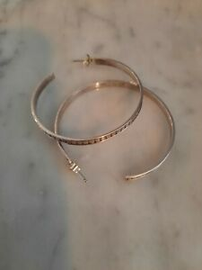 Beautiful Anna Beck sterling Silver 925  Dot hoop pierced earrings exc condition
