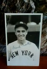 1950's Frank Crosetti signed autograph 6x4 Postcard Baseball Player