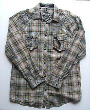 Mens Roar Strength Refined Plaid Long Sleeve Shirt Size XL