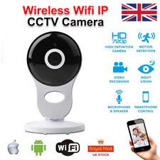 UK Wireless WIFI HD 720P IP Camera Indoor Security Pan Tilt Night Vision Cam TU