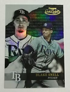2020 Topps Gold Label #92 Blake Snell Class 1 Black Tampa Bay Rays