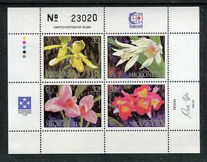 Micronesia 230, MNH,  Flowers Orchids 1995. x27140