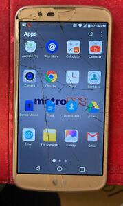 LG K10 - 16GB - Gold (Unlocked) Smartphone Cracked