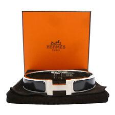Authentic HERMES Clic Clac PM Bracelet Silver Brass #S203030