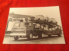 very rare press photo Shelby American Inc Transporter Truck Ford Mustang GT350R