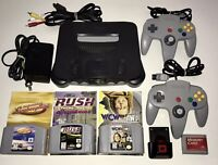 Nintendo 64 Console System Bundle W/ 3 Games & Manuals, 2 Controllers & Extras