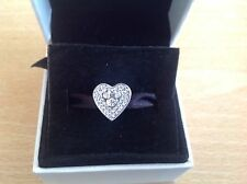 Sterling Silver Minnie Mouse Love Heart Charm Bead S925 Ref: (82)