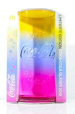 "Coca Cola, Kontur Relief Glas, ""Regenbogen Glas"" Edition 2019, Mc Donalds"