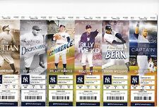 2015 NEW YORK YANKEES SEASON TICKET STRIP SHEET STUB SET MANTLE JETER RUTH 24tix