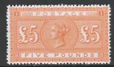 Great Britain (153) 1867 QV £5 orange - a Maryland FORGERY unused