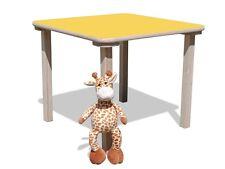 Kindertisch -mit gelber Tischplatte - stabil
