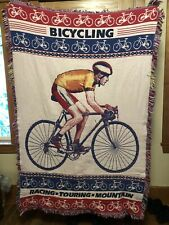 Bicycle Tapestry Woven Throw Blanket Tour de France Road Mountain Bike 50X70