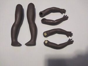 LOT OF 6 PORCELAIN DOLL LEGS & ARMS African American