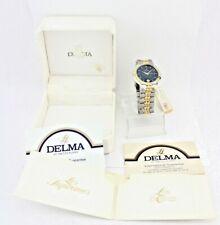 "DELMA "" LES SUPREMES "" 18K Gold plated Herren / Damen Uhr Ref. 467054 YAK-19"
