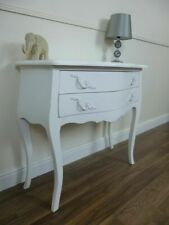 French Style Charroux Small Chest Of Drawers In White - Shabby Chic Chest